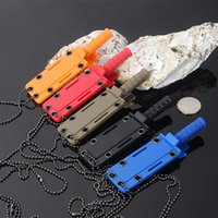 Folding Blade blades technology - Micro technology necklace knife direct sales of stainless steel knife outdoor camping survival color small straight knife spot