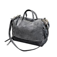 Wholesale motorcycle vintage messenger bag - Wholesale- New Arrive Luxury Handbags Women Shoulder Bags Designer Nubuck Leather Vintage Messenger Bag Motorcycle Crossbody Bags bolsas