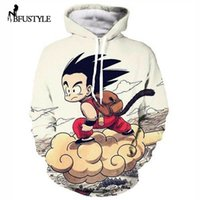 Wholesale Hoody Plus Size Women - Wholesale- Anime Dragon Ball Z Hooded Sweatshirt Cute Kid Goku 3D Hoodie Pullover Men Women Cartoon Character Tops Hoody Dropship Plus Size