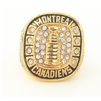 Wholesale Montreal Tin - Fashion rings montreal canadiens Beliveau world championship ring