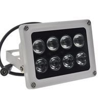 12v Infrarouge Led Cctv Pas Cher-1pcs 12V 60m 8 array led éclairage infrarouge vision nocturne IR illuminator Outdoor Waterproof pour caméra CCTV