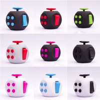 Wholesale Cheap Puzzle Cubes - Fidget Cube Decompression Dice Anti Stress Hand Itch Irritability Cubes Puzzle Plastic Dices Toy Creative Cheap Free DHL 133