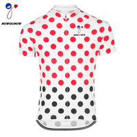 Wholesale Dot Jersey - NEW 2017 Retro tour cycling jersey Red dot bike clothing wear riding MTB road ropa ciclismo cool NOWGONOW tour man la vuelta