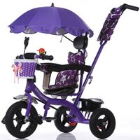 Wholesale Tricycle Stroller Bike - Wholesale- Baby child tricycle trolley baby stroller high quality pneumatic tire baby carriage bike bicycle for 6 month-5 years old pram