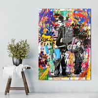 12x16 baskılar toptan satış-Alec tekel graffiti sanat tuval baskılar Banksy Duvar Boyama Aşk bir cevap oturma odası ve yatak odası dekorasyon hediye