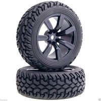 Wholesale Hsp Tires - 4Pcs RC HSP 9047-8019 Wheel Rim & Rally Tires Tyre For 1:10 On-Road Rally Car