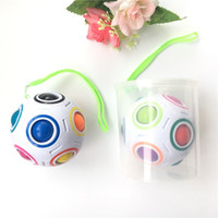 Wholesale Fun Football - Rainbow Ball Magic Cube Speed Football Fun Creative Spherical Puzzles Kids Educational Learning Toys games for Children Adult Gifts b1257-1