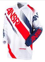 e5721ea63 Casual Shirts Long Sleeve Acetate ANSWER moto Jersey MTB Off Road Mountain  Bike DH Bicycle moto