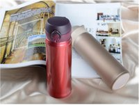 Wholesale Self Warming - 500ml Home Kitchen Thermoses Stainless Steel Insulated Thermos Cup Coffee Mug Travel Drink Bottle Garrafa Termica Thermo Mug