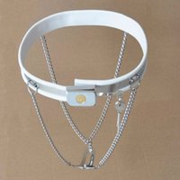 Wholesale New Type Chastity - Chastity Belts New Invisible Stealth Double Y-Type Stainless Steel Chain Metal Adult Sex Products for Women Design G7-5-28