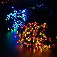 ingrosso luci spot spot-LED Solar String Lights 22meters 200pcs Light-spot Lamps House Garden Festival Illuminazione Impermeabile Outdoor Decorazioni Casa Paesaggio Indoor
