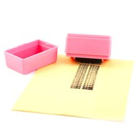Wholesale stamping office - Wholesale- Roller Messy Code Mini Privacy Confidential Security Theft Stick Blue Pink Color Office Use Covering Garbled Stamps