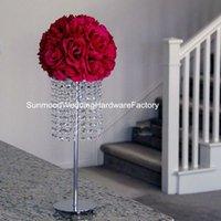 акриловые подставки для центральных частей оптовых-акриловые Кристалл искусственные цветы стенд для свадебного стола центральные