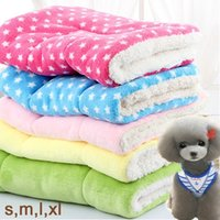 Wholesale Pet Flannels - Free shipping Coral Fleece 11 Colors Coussin Chien Flannel Soft Warm Dog Pets Blanket Tapis Chien Manta Perro 55 x 42cm 21.7 x 16.5inch 195g
