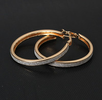 Vente en gros - Vintage Gold Color Big Circle Hoop Boucles d'oreilles pour femmes Steampunk Ear Clip Party Jewelry Accessories Gift e047