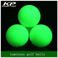 Wholesale Indoor Golf Training - Wholesale- Fluorescent Night luminous indoor golf 4 light balls glow in the dark for practice golf training sports Two piece ball