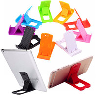 Wholesale New Galaxy Tablet Phone - 2017 New Folding Mini Mobile Phone Holder plastic Lazy Phone stand Bed Display phones Accessories for Iphone Tablet Samsung Galaxy Xiaomi
