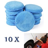 Wholesale wax applicators - 10pcs Polish Foam Sponge Car Applicator Cleaning Microfiber Waxing Pad Detailing Free shpping
