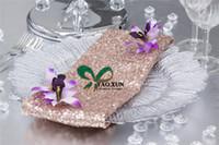 Wholesale Wholesale Cloth Table Napkins - 40cm*40cm Sequin Table Napkin For Wedding Table Cloth Decoration
