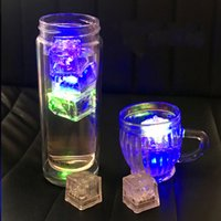 Led Ice Cube Lights Polychrome Flash Ice Sensor Líquido Glowing Ice Cube Submersible Lights Decor Light Up Bar Club Wedding Party