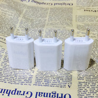 Wholesale Iphone Adapter Cube - Mini EU USA Wall Adapter USB Home Travel Charger Power Cube 1A USB Wall Charger For iphone 4S 5S 6s Cig eGO Battery