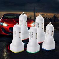 Wholesale Rocket Usb - Rocket Design LED light 5v 2a Dual USB Car Charger adapter For iPhone 6 7 Samsung Universal coche de Cargador CAB161