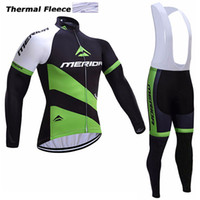 Wholesale Merida Cycling Jersey Winter Thermal - 2017 MERIDA winter thermal fleece cycling jerseys long sleeve bicycle mtb bike winter cycling clothes sport kits bicycle men wear AK-79