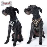 Wholesale Zebra Leopard Printed Pet Harness Cheap Dog Cloth Small Pet Dog Vest Harness Dog Apparel