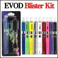 evod vaporizer starter kit großhandel-EVOD MT3 Blister Starter Kits E Zigarette Evod Vape Pen Batterie EVOD mt3 Panzer Zerstäuber Clearomizer elektronische Zigaretten Verdampfer Kit DHL