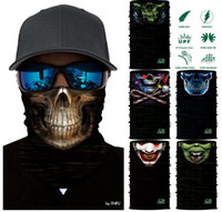 Wholesale Face Mask Bandana Neck - HOT Magic Headband Death Knight Pirate Scarf Skull Skeleton Ghost Ski Cycling Headwear Headband Motorcycle Neck Bandana 3D Face Mask TOP1786