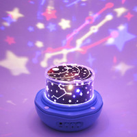 Wholesale starry night gifts resale online - Projection Lamp Rotate Bud Starry Sky High Quality Night Light Colorful Fashion Lighting Romantic Gift Hot Sell ns F R