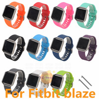 Wholesale Silicone Band Bracelet Watches - Luxury Silicone Watchband High Quality Replacement Wrist Band Silicon Strap For Fitbit blaze Smart Watch Bracelet 11 color