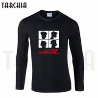 Wholesale T Shirts For Boys Wears - Wholesale- TARCHIIA Free Shipping Famous Band Gorillaz Print Men's Long Sleeve Homme Cool T-Shirt Cotton tee Plus Size for Boy Woman Wear