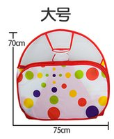 Wholesale Baby toys play house Baby children tent indoor shooting folding wave pool ocean ball pool years old