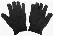 siyah kesme eldivenleri toptan satış-Dayanıklı Seviye 5 Kesmek Vahşi Kendini savunma Malzemeleri-Siyah Marka Yeni Cut-Dayanıklı Anti-Aşınma Emniyet Eldivenleri Çalışma Koruyucu Eldiven