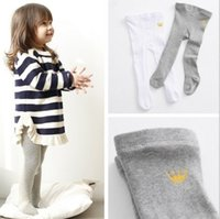 Wholesale Hot Tight Dress Girl - Hot Sell New Spring Summer Kids Pure Color Pantyhose Baby Girls Cute Leggings White Gray Kids Clothes Dress Good Match Wholesale Q0890