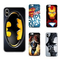 Wholesale Apple Batman - Ironman Marvel Avengers Superhero Hard Phone Case for iPhone 8 7 6s 6 Plus SE iphone X fundas Cover Batman Spiderman Shell GSZ413