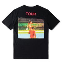 Wholesale Kardashian L - Kanye West Saint Pablo Tour NY T Shirts Kim Kardashian Tennis Printed Top Tee Casual Cotton Short Sleeve Tshirts Black