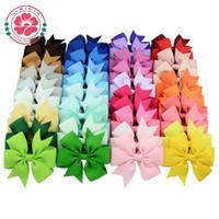 alfileres de bebé de color al por mayor-Arcos de pelo Pin de pelo para niños Niñas Niños Accesorios de pelo Arcos de bebé Chica con pinzas Clip de flor Hot 40 colores