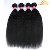 Wholesale Wholesale Italian Human Hair - Grade 8A 100% Unprocessed Mongolian Hair Afro Kinky Straight Weave Extensions 3Pcs Lot Italian Coarse Yaki Human Hair Weft 3 Bundles