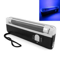 Wholesale Handheld Money Detector - DHL Mini White LED flashlight Torch Handheld UV Leak Detector For uv light bank note   test currency Money Verify LEG_70J