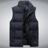 Wholesale Men Vest Jacket Hood - Wholesale- New Stylish Autumn Winter Vest Men High Quality Hood Warm Male Vest Sleeveless Jacket (Asian Size)
