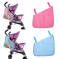 Wholesale Pram Storage - Wholesale- Baby Infant Cart Pram Stroller Mesh Hanging Bag Pushchair Storage Net Bag Baby Stroller Accessories Side Bag