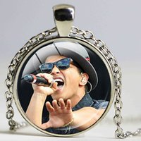 Wholesale American Cute Sexy - Bruno Mars Musician Necklace Sexy Cute Singer Pendant New Fashion Design Kids Birthday Favors and Gift Bridesmaid Jewelry