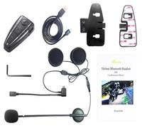 gegensprechanlage bluetooth großhandel-Bluetooth Motorrad Intercom Motorrad Helm Interphone / FM Radio / GPS Intercom 4 Tasten Bedienung Bluetooth 3.0 D2 500m