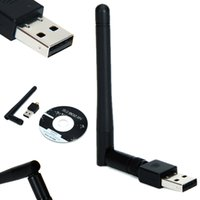 Wholesale Wifi Antenna Device - Wholesale- Connect to Network Device 150Mbps Mini USB 2.0 Port Wireless Wifi Adapter 802.IIN LAN Network Wi-fi Adapters With Antenna