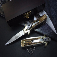 Wholesale Germany Mark - AKC Germany Solingen Solingen classic small knife lever Camping hunting knife mark D2 free shipping 1pcs