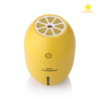 Wholesale Lemon Package - 2017 Creative Lemon Humidifier LED USB Lamp Mini Mute Home Office Car USB Humidifier Air Purifier Atomizerc with Retail Package