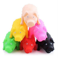 Wholesale Latex Dog Toys Wholesale - Pet Pig Latex Toy with Real Squeak Assorted Colors for Small Medium Dogs Cats Pets Small Animals Assorted Colors