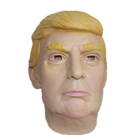 Presidente USA Donald Trump Mask Maschera presidenziale Maschera di lattice Ideale per le feste Celebrità Viso Full-head Adult Look-alike Celebrity